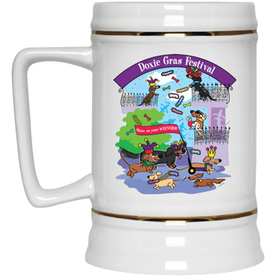 Doxie Gras 22 oz Beer Stein