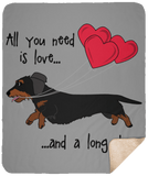All You Need Is Love WH (B&T) Fleece Sherpa Blanket - 50x60