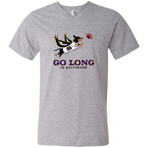 Go Long in Baltimore Men's V-Neck T-Shirt