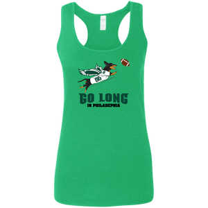 Go Long in Philadelphia Ladies' Softstyle Racerback Tank