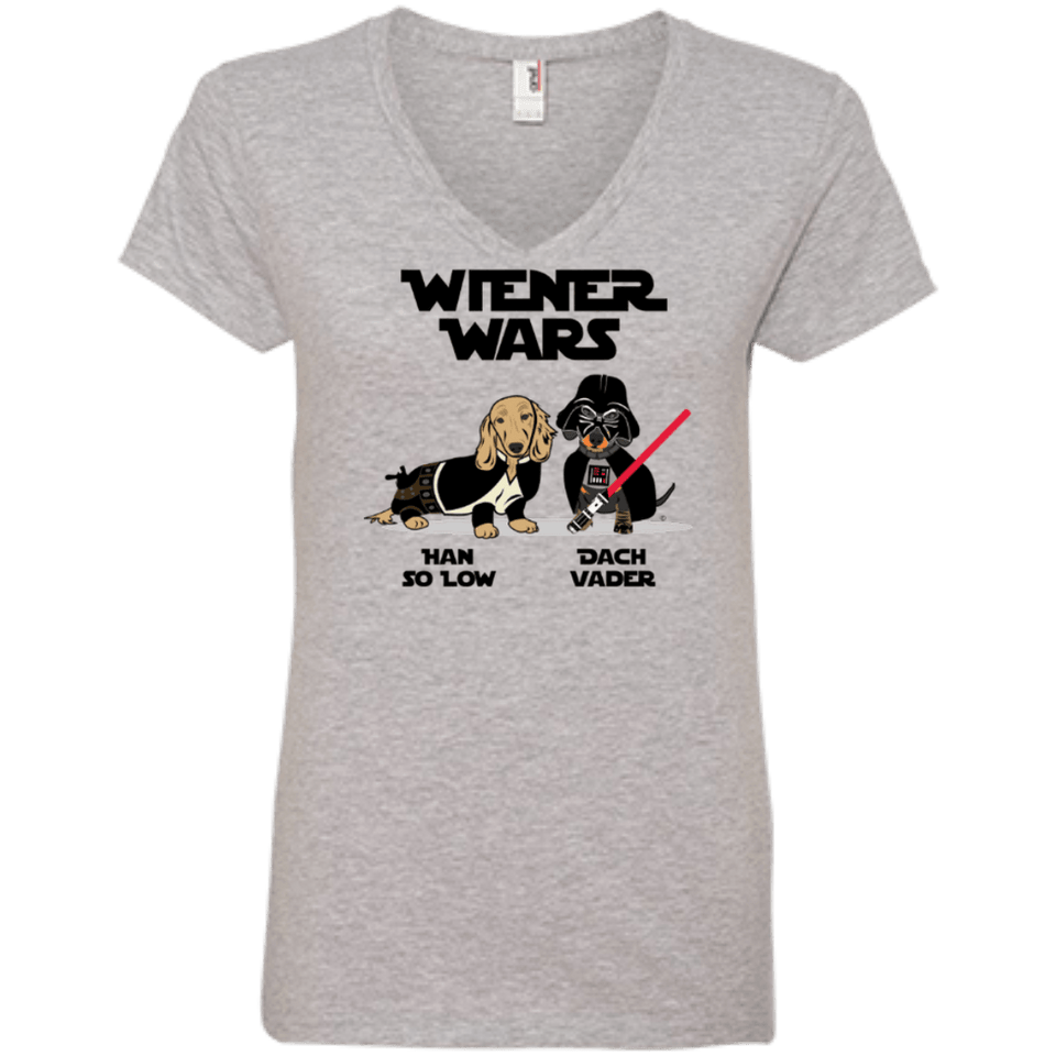 Wiener Wars Ladies' V-Neck Tee