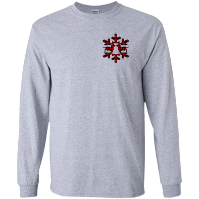 Plaid Snowflake Dachshunds LS Ultra Cotton T-Shirt