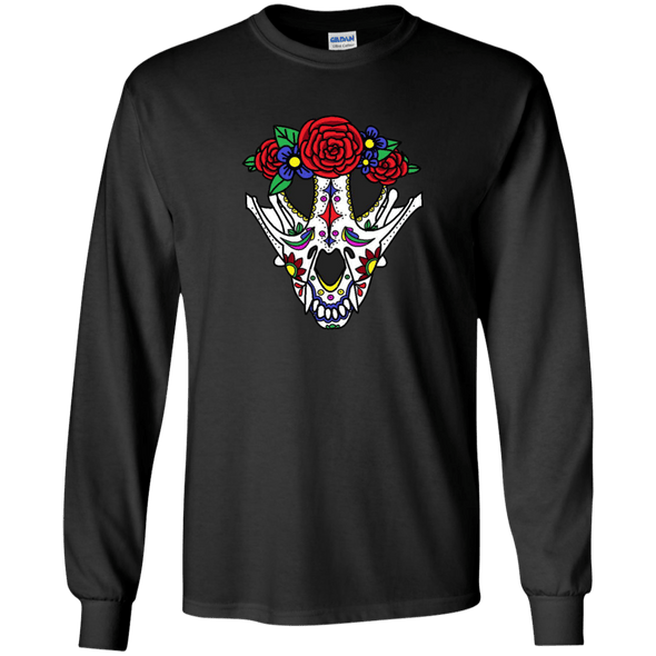 Canine Sugar Skull LS Ultra Cotton Tshirt