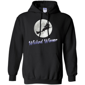Flying Wicked Wiener (Purple lettering) Pullover Hoody