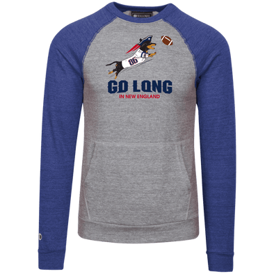 Go Long in New England Tri-blend Vintage Fleece Heathered Crew