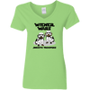Wiener Wars Smooth Troopers Ladies' V-Neck T-Shirt