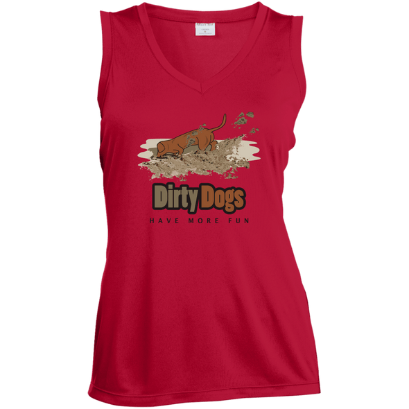 Dirty Dogs Ladies' Sleeveless Moisture Absorbing V-Neck