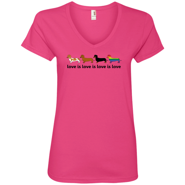 Love Is Love Ladies' V-Neck T-Shirt