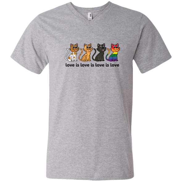 Love Is Love - CATS Men's V-Neck T-Shirt