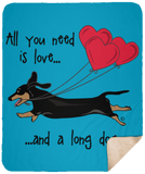 All You Need Is Love SH (B&T) Fleece Sherpa Blanket - 50x60