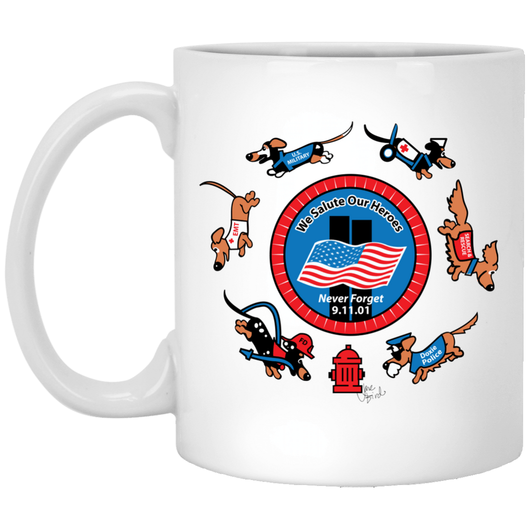 911 Hero Dogs 11 oz. Ceramic Mug