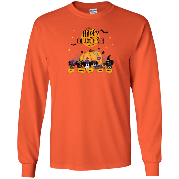 Personalized Happy Hallowiener LS Ultra Cotton T-Shirt