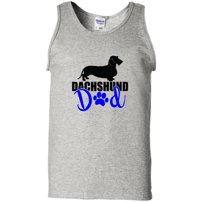 Dachshund Dad Wirehair (Blue) Unisex 100% Cotton Tank Top