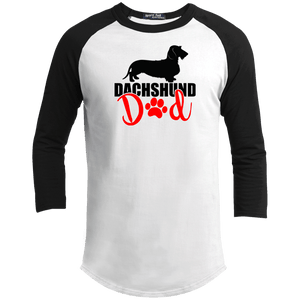 Dachshund Dad Wirehair (Red) 100% Cotton Baseball Jersey