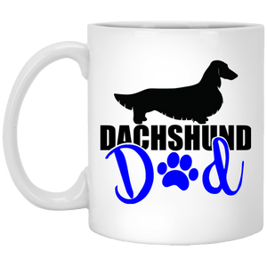 Dachshund Day Longhair (Blue) 11 oz. Ceramic Mug
