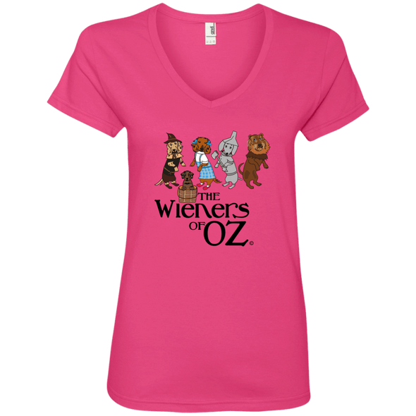 Wieners of Oz Ladies' V-Neck T-Shirt