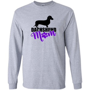 Dachshund Mom Shorthair (Purple) LS Ultra Cotton T-Shirt
