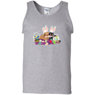 Easter Dachshunds Unisex 100% Cotton Tank Top