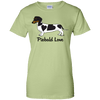 Piebald Love (Black) Ladies' 100% Preshrunk Cotton T-Shirt