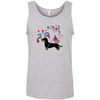 Patriotic Wirehair B&T 100% Ringspun Cotton Tank Top