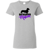 Dachshund Mom Wirehair (Purple) Ladies' T-Shirt