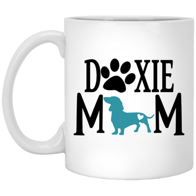 Doxie Mom (Teal) 11 oz. Ceramic Mug