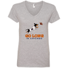 Go Long in Chicago Ladies' V-Neck T-Shirt