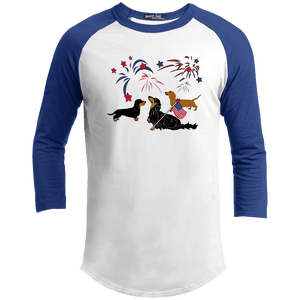 Patriotic Dachshunds Baseball Shirt