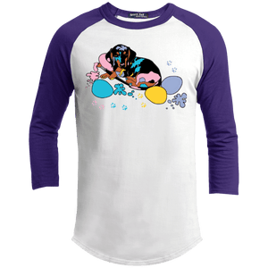 Easter Dachshund 100% Cotton Baseball Shirt