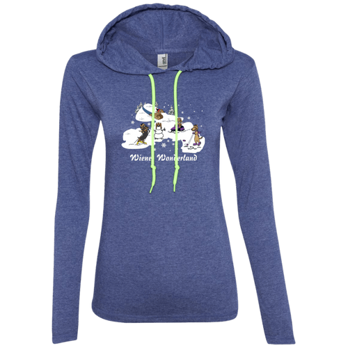 Wiener Wonderland Design 2 Ladies' LS T-Shirt Hoody