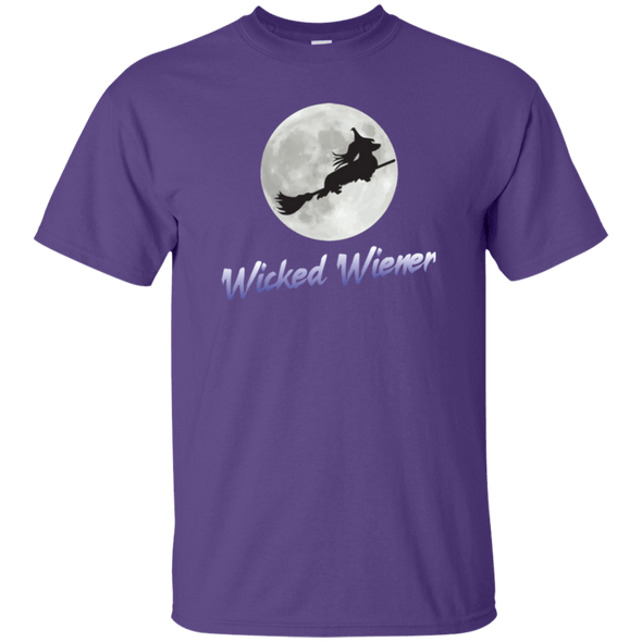 Flying Wicked Wiener (Purple lettering) Unisex Ultra Cotton T-Shirt