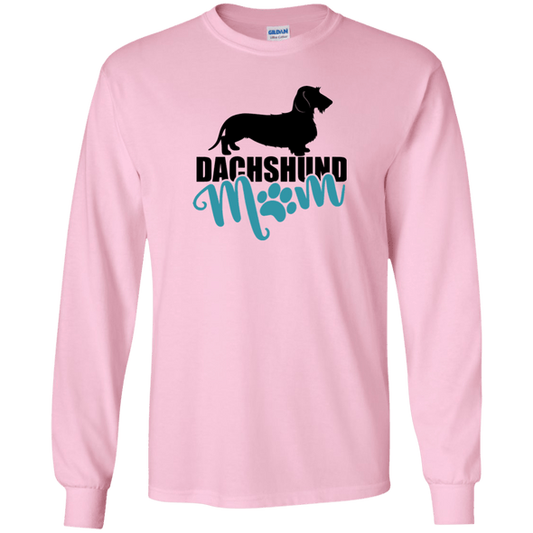 Dachshund Mom Wirehair (Teal) Unisex LS Ultra Cotton T-Shirt