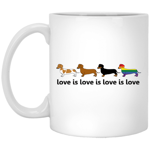 Love Is Love 11 oz. White Ceramic Mug