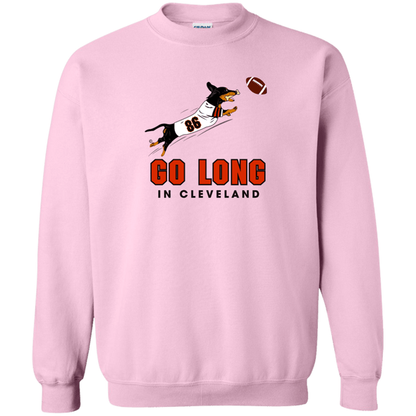 Go Long in Cleveland Crewneck Pullover Sweatshirt