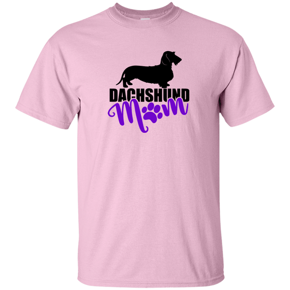 Dachshund Mom Wirehair (Purple) Unisex Ultra Cotton T-Shirt