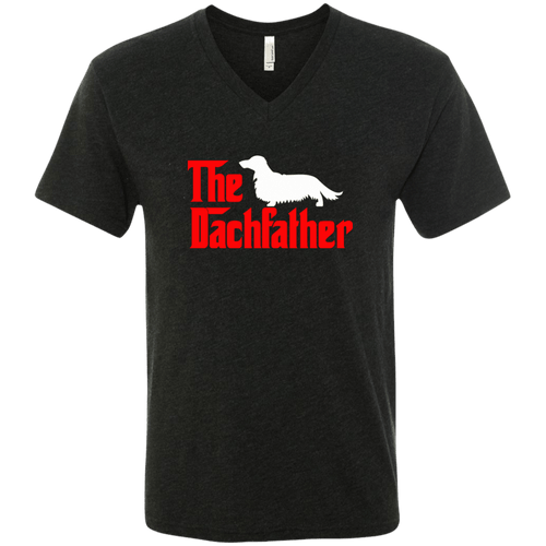 The Dachfather (LH) Men's Next Level Triblend V-Neck T-Shirt