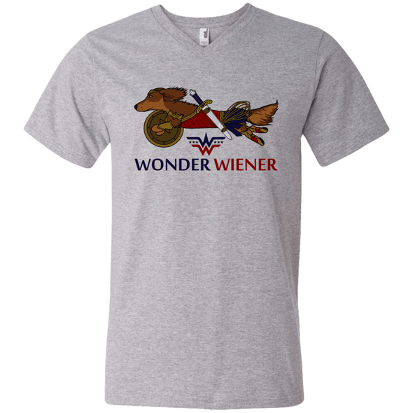 Wonder Wiener (R) Men's V-Neck T-Shirt