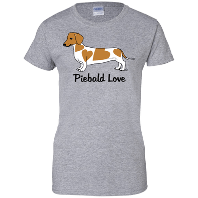 Piebald Love (red) Ladies' 100% Preshrunk Cotton T-Shirt