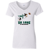 Go Long in Philadelphia Ladies' V-Neck T-Shirt