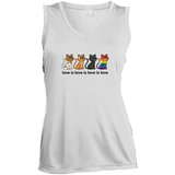 Love Is Love - CATS Ladies' Sleeveless Moisture Absorbing V-Neck