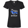 My Patronus Is A Dachshund Ladies' V-Neck T-Shirt