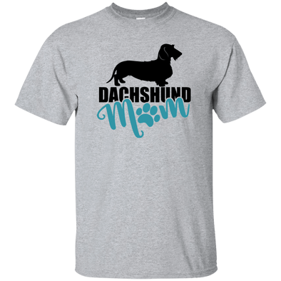 Dachshund Mom Wirehair (Teal) Unisex Ultra Cotton T-Shirt