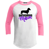 Dachshund Mom Shorthair (Purple) 100% Cotton Baseball Jersey