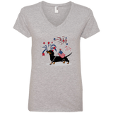 Patriotic Smooth B&T Ladies' V-Neck T-Shirt