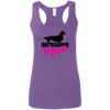 Dachshund Mom Longhair (Pink) Ladies' Softstyle Racerback Tank