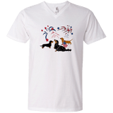 Patriotic Dachshunds Men's V-Neck T-Shirt