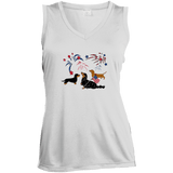 Patriotic Dachshunds Ladies' Sleeveless Moisture Absorbing V-Neck