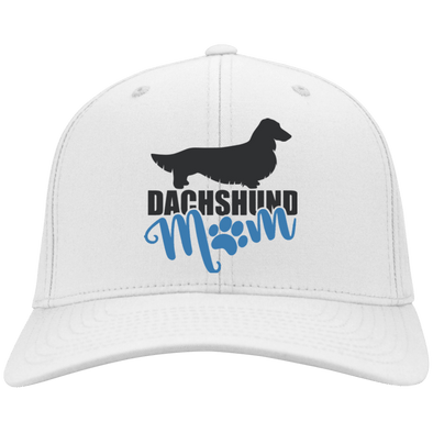 Dachshund Mom Longhair (Teal) Flex Fit Twill Baseball Cap
