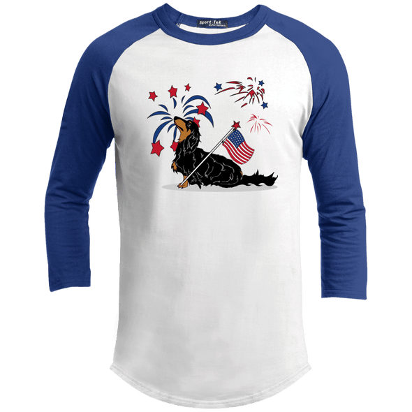 Patriotic Longhair B&T Baseball Shirt