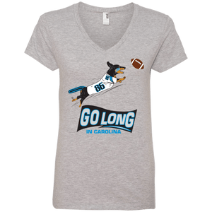 Go Long Carolina 100% Ringspun Cotton Ladies' V-Neck T-Shirt